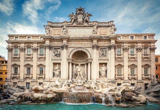 trevi fountain roma italia