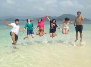 pulau pasir timbul/gosong